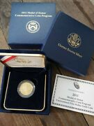 2011-p Medal Of Honor 5 Commemorative Gold Us Mint Coin Uncirculated