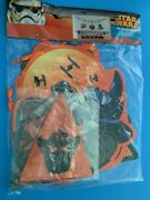 Star Wars Halloween 5pc Decoration Kit Banner, Garland And Characters Rare