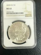1890-cc Ms62 Ngc Morgan Silver Dollar Great Coin See The Pictures