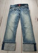 Nwt Abercrombie And Fitch Womens Straight Crop Capri Cuff Jeans Size 00 X 23 60