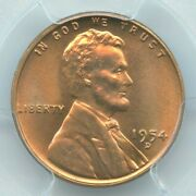 1954-d Lincoln Cent, Pcgs Ms66rd