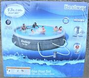 Bestway Fast Set Round Inflatable Pool 13and039 X 33 Above Ground W/530 Gph Pump New