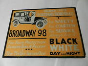Vintage Advertising Sign- Late 1920's Taxi Sign- Portland Taxicab Co.- Rare