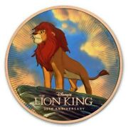 2019 Niue Island 2 Disney 25 Years The Lion King 1 Oz Silver Coin Gold Gilded