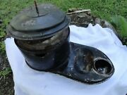 1950and039s Chevy Air Filter Housing - Passenger Car 1955 Era Big Rot Hole Side