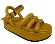 Gordon 1956 Womenand039s Sandal Yellow Art. Pakita 100 Leather Made In Italy
