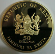 Kenya 2013 Silver Gold Plated Commemorative Coin 50 Shilling Proof Mint