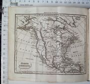 Northern America 1824 Antique Map Guys School Geography Atlas Usa, Canada Mexico