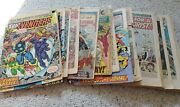 Marvel Coverless/incomplete Lot Of 25 Silver Bronze Comics - Some Keys