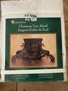 Vintage Traditions Cast Iron Ornate Christmas Tree Trunk Stand Heavy, Open Box