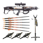 Ravin Crossbows 400 Fps R26 Crossbow Dusk Camo W/ Shooting Stick And Broadheads