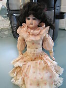 Antique Cuno And Otto Dressel Bisque Shoulder-plate Doll On Jointed Kid Body 15