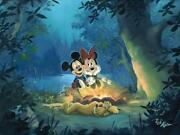 Family Camp Out By Rob Kaz With Mickey Mouse, Minnie Mouse And Pluto