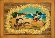 Hula In Paradise Mickey Mouse And Minnie Mouse By Trevor Carlton