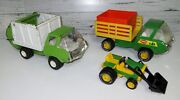 Vintage 1970's Tonka Lot / Garbage Truck. Rail Truck, Tractor And Rare Bin ...