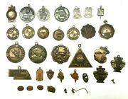 Lot 3 A Nice Group Of 34 Miniature Award Medals / Pendants / Pins