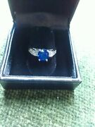 Sapphire And Diamond Ring 2.42ctwappraisal Included