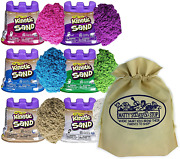 Kinetic Sand Modeling Sand 4.5oz. Containers Pink Green Purple White Beige