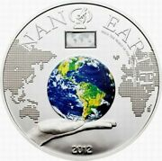 Cook Islands Coin Silver 10 2012 Nano Earth World In Your Hand 50g
