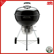 Charcoal Grill With Built-in Thermometer 22 In Long Lasting Chrome Plated Steel