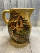 """Hand Painted Signed Ceramic Pitcher 6"""""""