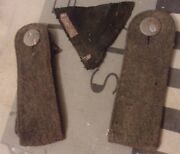Ww2 German Wehrmacht Shoulder Boards And Triangular Patch Real Dug Relics