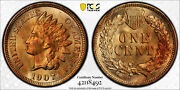 1907-p Indian Head Penny Cent 1c Pcgs Ms 65 Red Brown Rb Type 3, Bronze