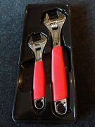Snapon 2pc Flank Drive Plus Soft Grip Adjustable Wrench Set