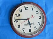 Vintage 1930andrsquos Postal Telegraph- Synchronous Electric Time Wall Clock By Hammond