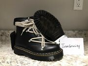 Nwt Doc Dr Martens X Rick Owens 1460 Bex Leather Lace Up Boots Size 14w/13m