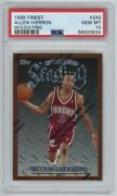 Allen Iverson Rookie W/ Coating Psa 10 1996-97 Topps Finest 1996 240 Rc Sterling