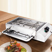 Electric Grill Bbq Griddle Pan Barbecue Smokeless Cooking Indoor Outdoor 2800w