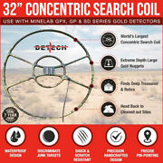 Detech 32 Concentric Search Coil For Minelab Gpx Gp Sd Series Metal Detectors