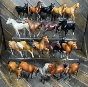 Vintage 1975-1976 Breyer Molding Co Stablemates G1 Lot Of 20 Stallions And Mares