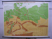 Schulwandkarte Wall Map Germany With Borders 1937 Canvas 81 7/8x63 3/8in