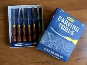 High Quality Vintage Marples Wood Tools Chisel Set Of 6 152 Woodworking Carving
