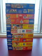 Lot 10 White Mountain 1000 Piece Complete Jigsaw Puzzles Great Huge Lot 1 Is 550