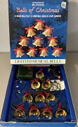 Vintage 1991 Mr. Christmas Lighted Musical Brass Bells Plays 15 Songs Tested