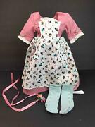 American Girl Felicity Spring Gown/dress/outfitpinner Apron2 Pinspomponsocks