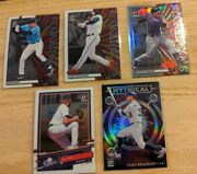 Panini 2020 Donruss Optic Baseball Cards Lot Of 5stained Glass/mythical