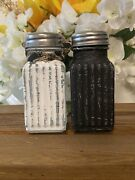 Black And White Salt And Pepper Vintage Distressed