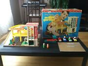 Vintage Fisher-price Little People Action Parking Garage - W/ Box-replc Decals