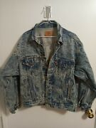 Vintage Jean Jacket Mens Size Medium Made In The U.s.a. Great Condition