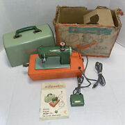 Vintage 1960s Signature Junior Toy Sewing Machine Test Works Manual Box See All