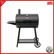 Charcoal Grill With Cast Iron Cooking Grates And Stainless Steel Thermometer