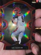 2020 Select Joe Burrow Concourse 46 Red Prizm Die-cut Rookie Card Rc Bengals