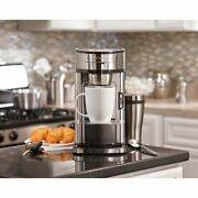 Hamilton Beach The Scoop Single-serve Coffee Maker Stainless Steel,2day Delivery