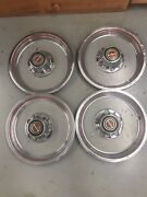 Ford Truck Bronco Center Caps Red Line Trim Rings 15 Inch Hubcaps