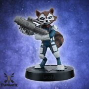Marvel Figurine Collection Eaglemoss Rocket Racoon 4 11/16in New Boxed