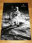 Apple Think Different Poster - Buzz Aldrin / 24 X 36 By Steve Jobs 35 13/16x24in